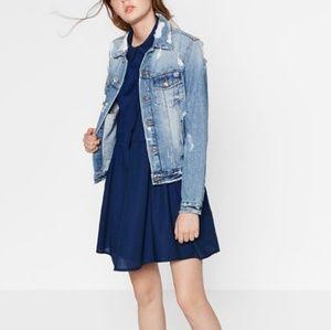 Zara Trafaluc Collection Mini Dress sz Small Navy